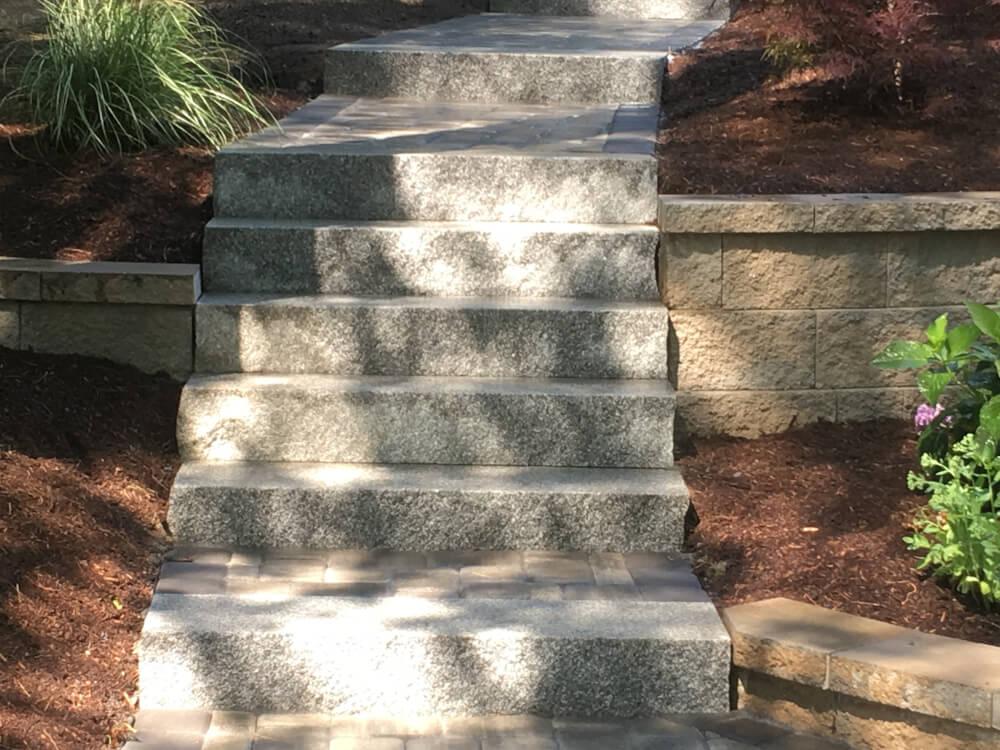 Granite Steps Amp Walkway Landscape Company Hanson Ma