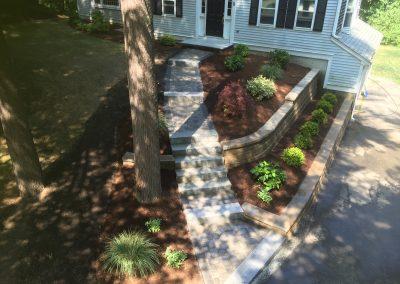 1-after-granite-steps-walkway-plantings-block-wall-4